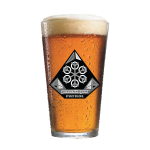 PINT GLASS WITH PATROL PATCH LOGO drinkware